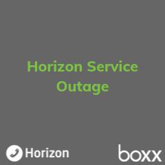 Horizon Service Outage