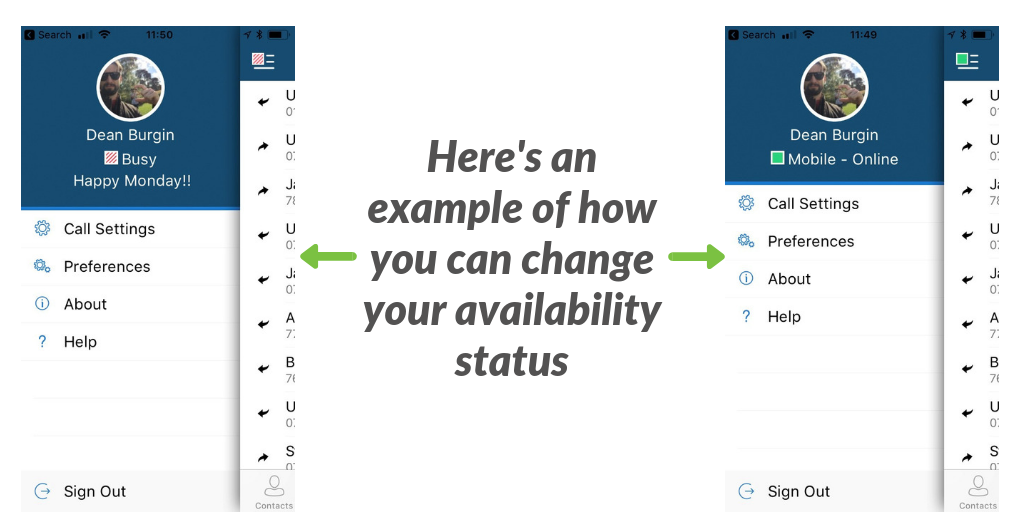 explanation of availability status